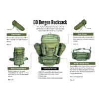 DD Bergen Rucksack hátizsák - Olive Green