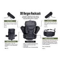 DD Bergen Rucksack hátizsák - Fekete
