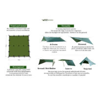 DD Tarp 3x3 - Olive green