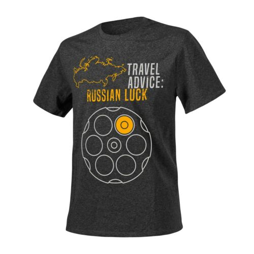 Helikon-Tex Póló (Travel Advice: Russian Luck) - Melange Black-Grey
